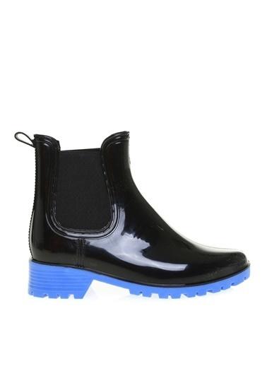 Limon Company Limon Siyah - Mavi Kadın Yağmur Botu Siyah